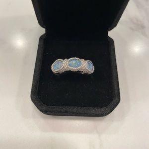 Judith Ripka Blue Opal Ring